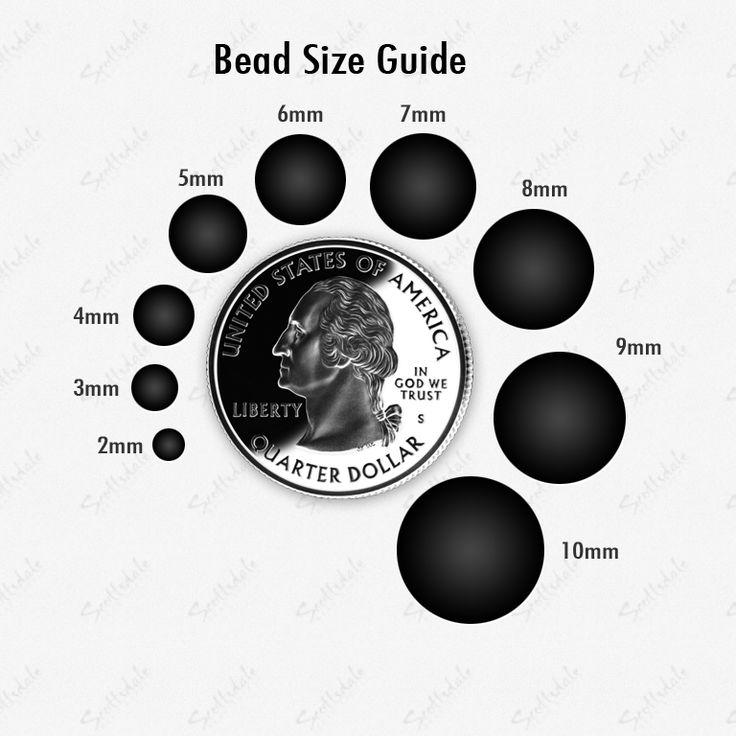 bead size guide beading techniques pinterest
