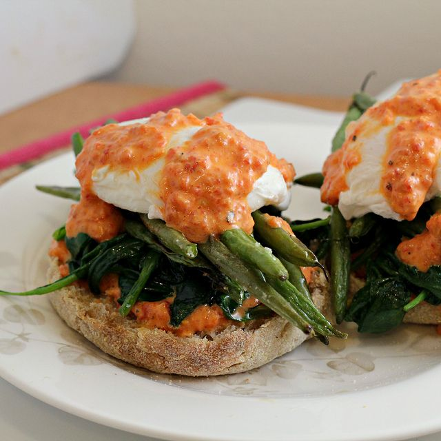 vegetable eggs benedict! #jsoissons | Veggies | Pinterest