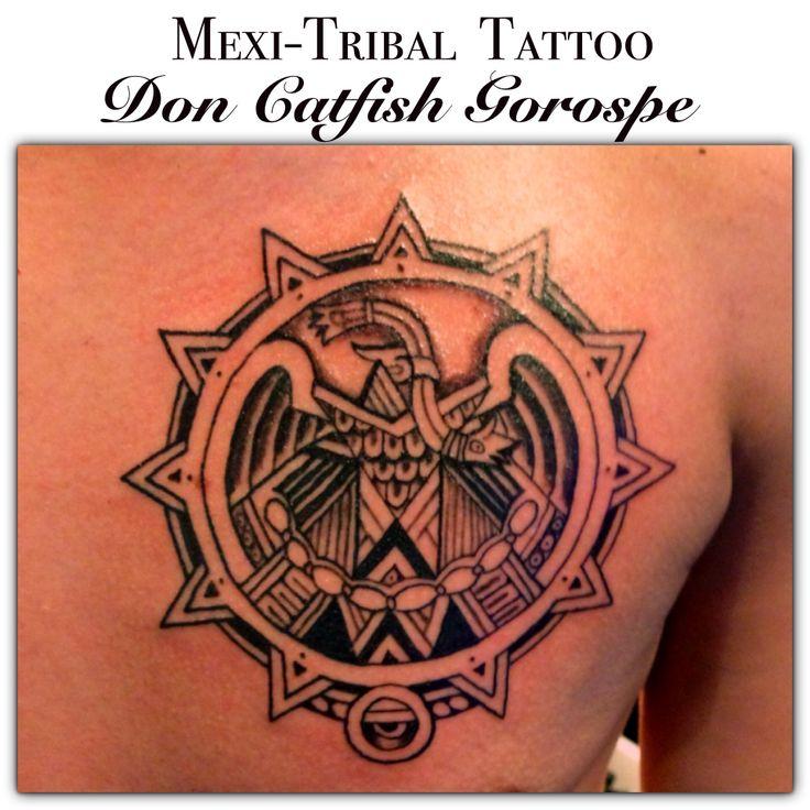 Mexi tribal tattoo dermal artistry pinterest