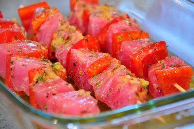 Grilled Tuna Kebabs | KTMADEIT.COM & Other Recipes | Pinterest