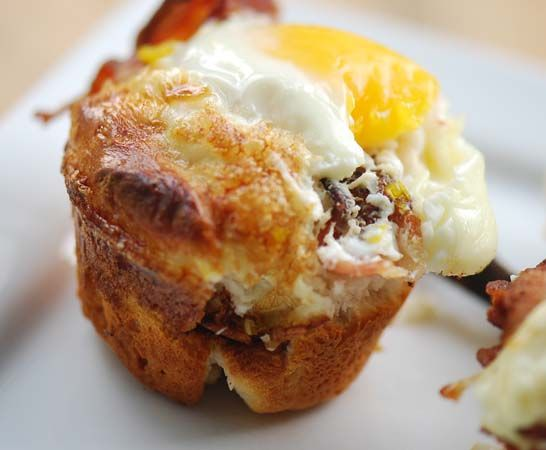 Bacon, egg, and toast cups - these were a good idea, however needs ...