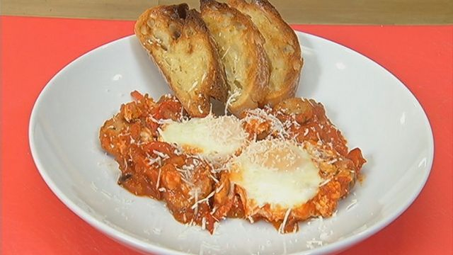 Italian-style Baked Eggs | TWC News Recipes | Pinterest