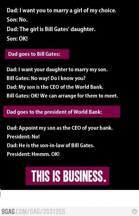 Esto es hacer negocios.