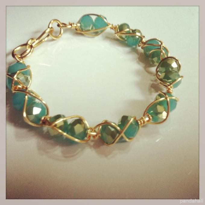wire wrapped bracelet jewelry