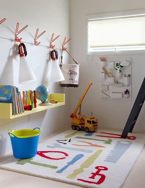 clean modern boy's room