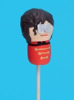 Michael Jackson styled cake pop! lol