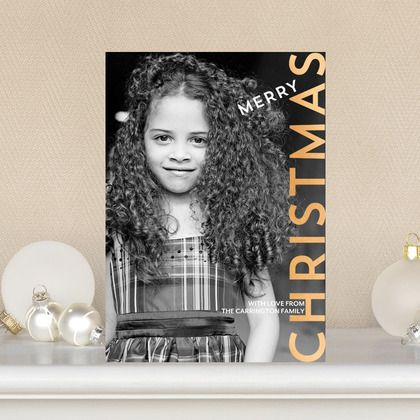 Awesome Angle - #Christmas Cards add a modern twist to your holiday photo card.