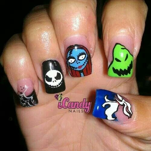 nightmare before christmas nail designs pinterest