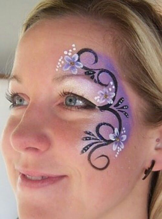 Simple design face painting pinterest for Black painting ideas