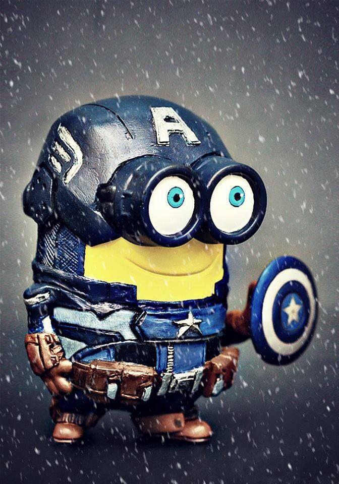 Minion Captain America Amigurumi : Captain America minion Minions Pinterest