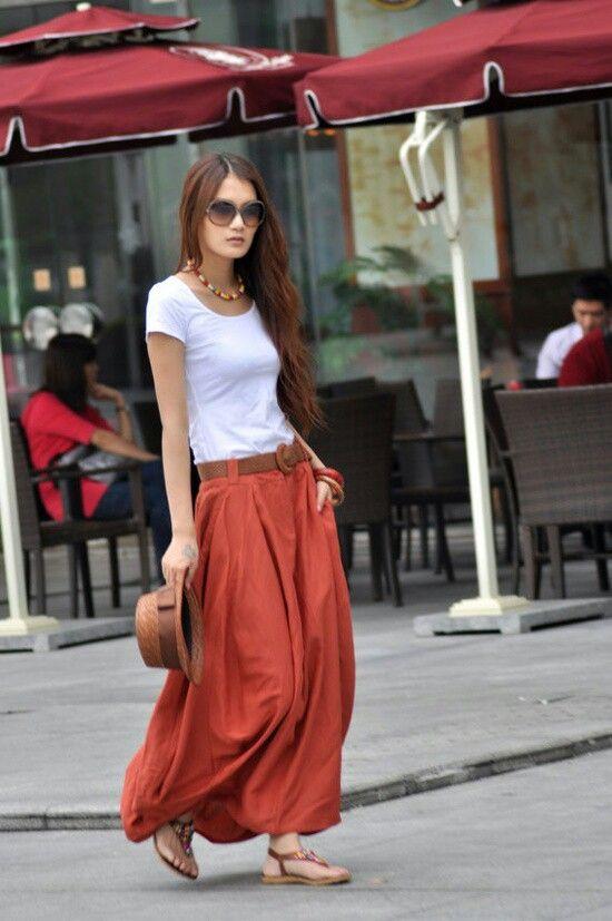 32 Ways to Style Maxi Skirts » Faux Pas