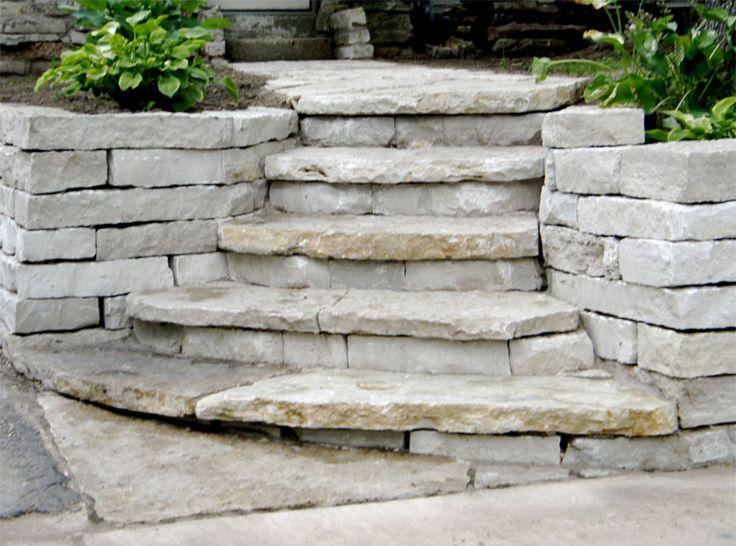Natural stone steps yard pool pinterest