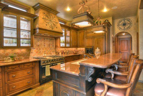 beautiful Tuscan style kitchen  Kitchen Designs  Pinterest