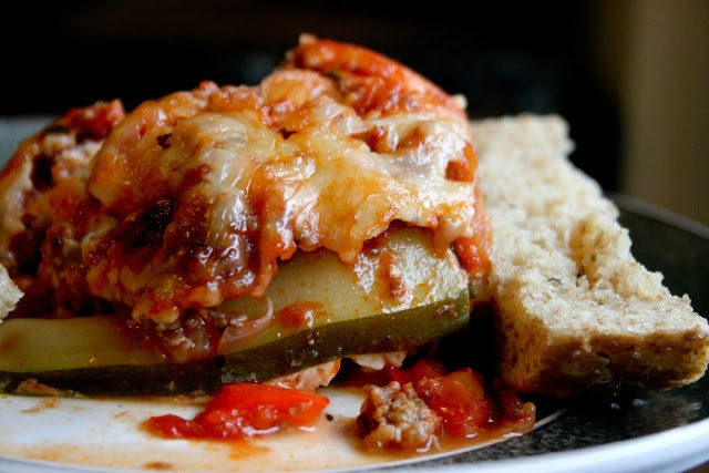 No-Noodle Zucchini Lasagna (GF) | Recipes to try!!! | Pinterest