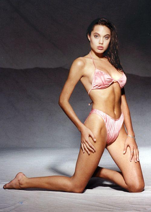 black skinny nude model