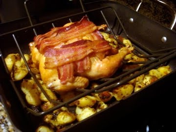 Roast Chicken with Lemon, Rosemary and Bacon Potatoes (Jamie Oliver ...