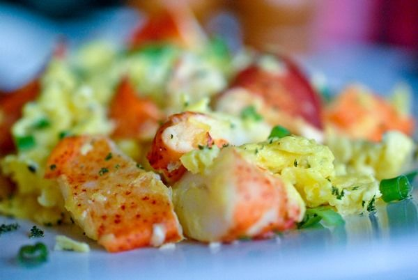 Recipe: Soft Tarragon Scrambled Eggs with Buttery Lobster and Sesame
