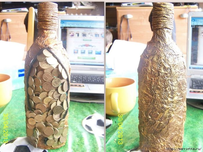 Бутылка из бумаги своими руками