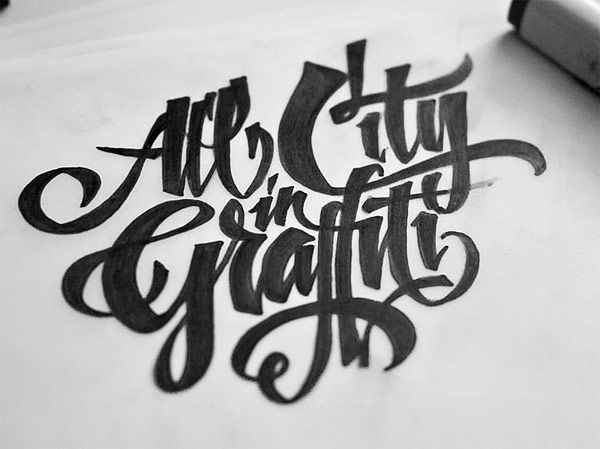 All City In Graffiti Type Lettering Pinterest