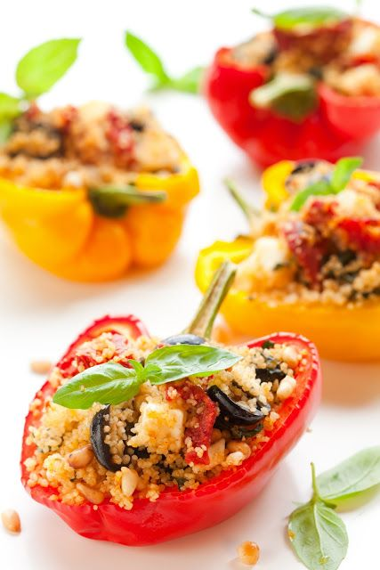 Couscous, Tomato and Feta Stuffed Peppers
