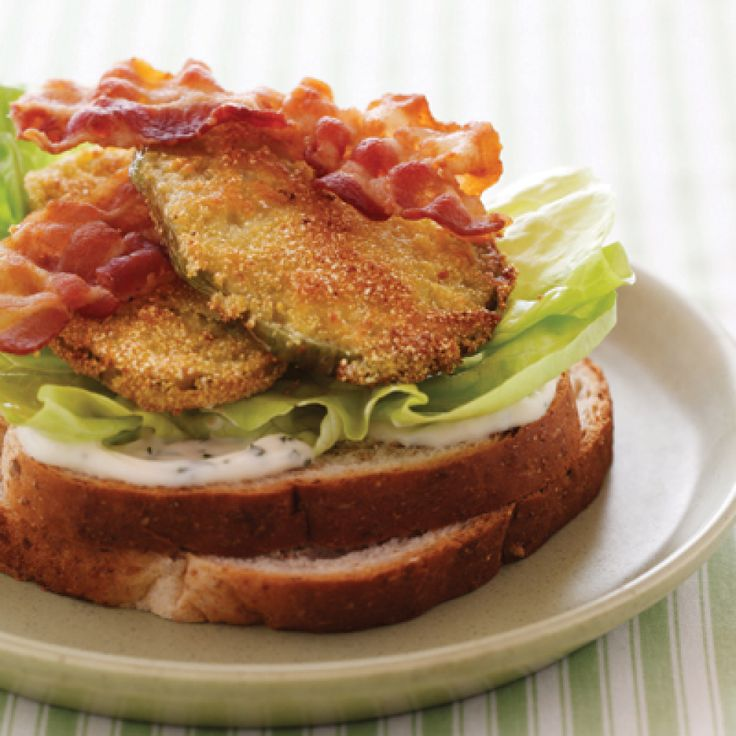 Fried Green Tomato BLT -- This looks sooooo good....