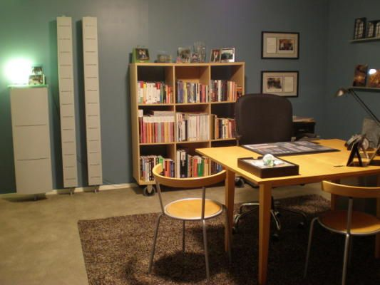 Unfinished Basement Office Ideas : Unfinished Basement turned Office,  Basement Time  Pinterest
