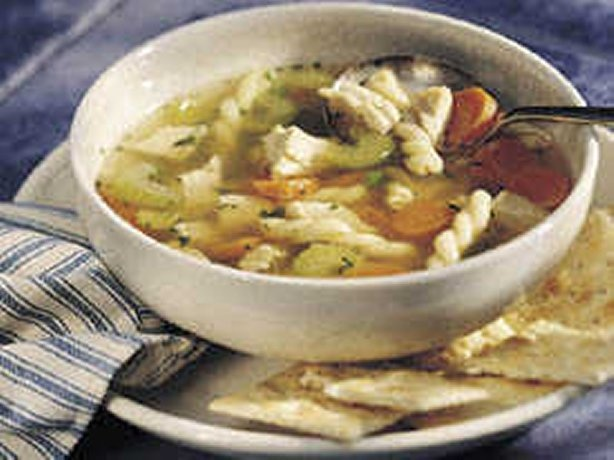 Quick Chicken Soup {So good! I didn't add the peas, and added one cup ...
