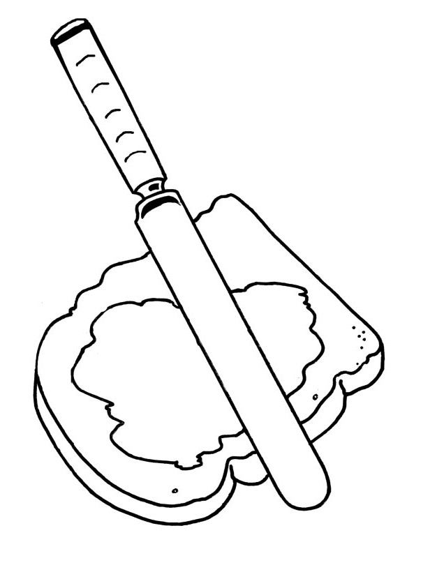 giant jam sandwich coloring pages - photo#1
