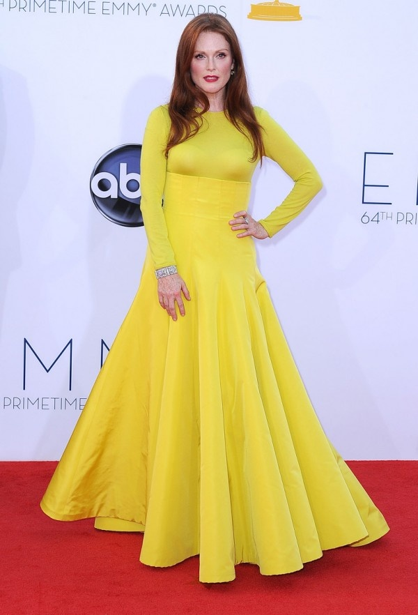 Julianne Moore in Christian Dior at the Emmys 2012