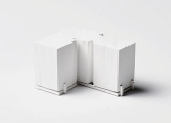 Martin Papcun - Innerspaces, 2011    Broche en polyurethane, argent, titane    Brooch in polyurethane, silver, titanium    70 x 90 x 60 mm