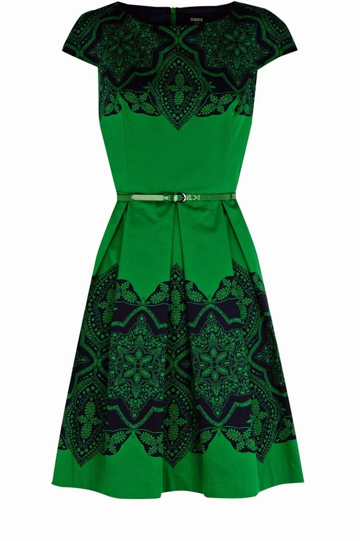 Платье зеленое с черным