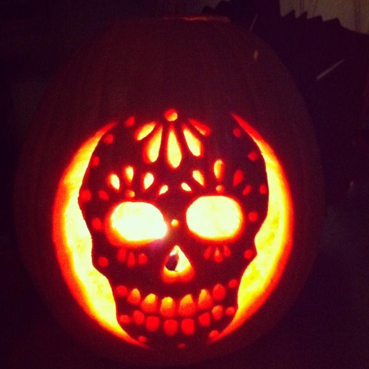 Skull pumpkin love pinterest