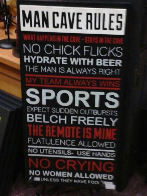 Man Cave Jokes : Man cave rules jokes quotes poems pinterest