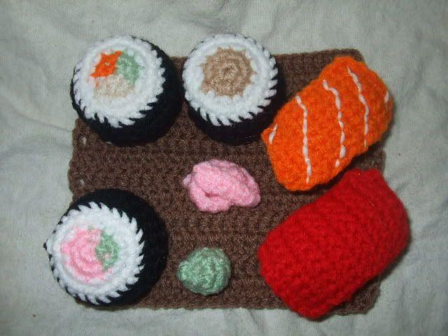 Amigurumi Sushi Pattern : Sushi pattern crochet toys Pinterest