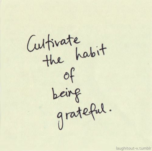 Being grateful can become a habit in the same way that complaining can. What kind of person do you want to be?