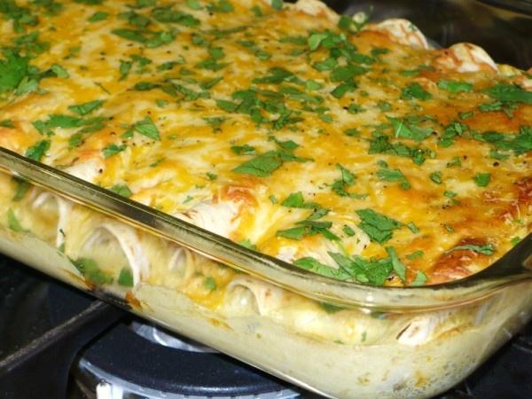 ... Girl Cooks: Chicken and White Bean Enchiladas with Creamy Salsa Verde