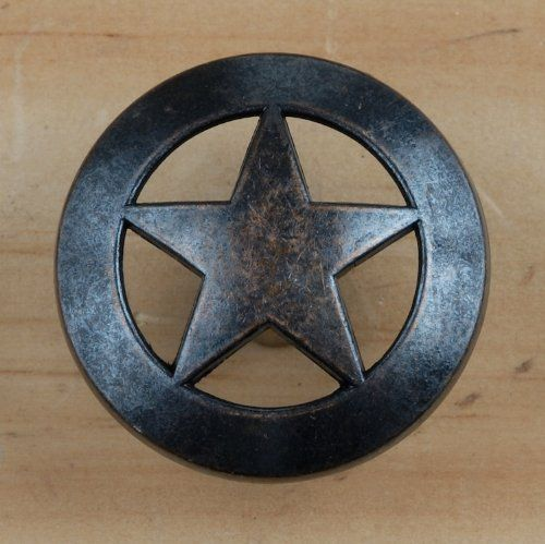 Pin by carol thomas on western drawer pulls pinterest for Star cabinet pulls