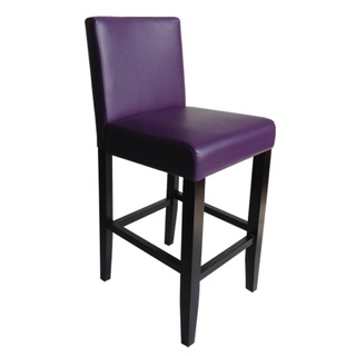 Villa Faux Leather Boysenberry Counter Stools Set Of 2