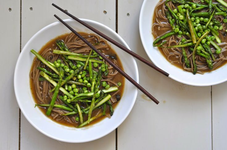 Two Blue Lemons: Miso Soup with Spring Vegetables & Soba Noodles ...