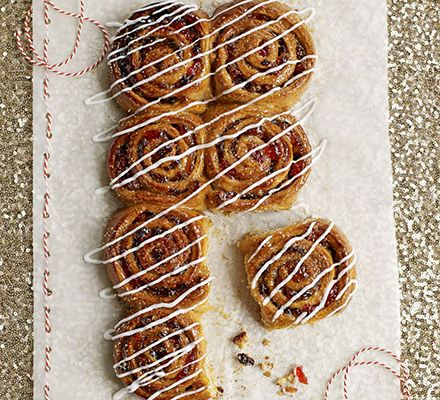 Mincemeat Chelsea buns | BBC Good Food