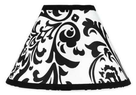 Pink black and white isabella lamp shade by sweet jojo designs baby
