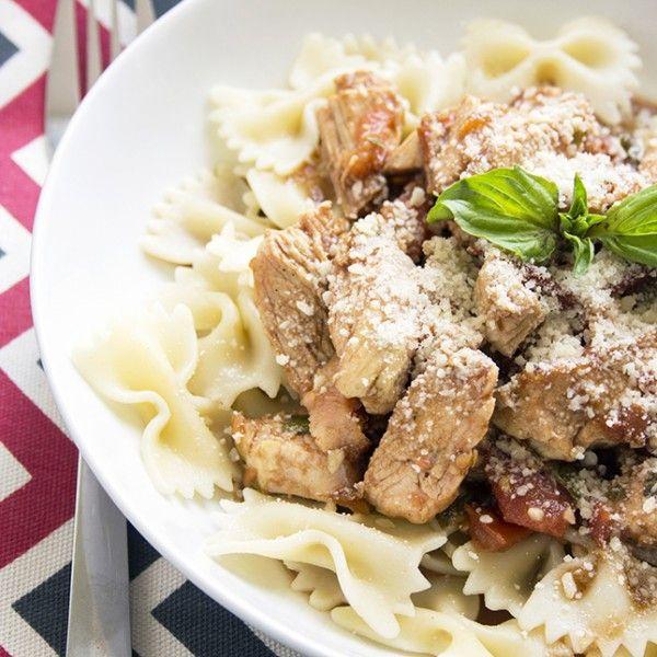 Grilled Chicken Bruschetta Pasta | Recipe