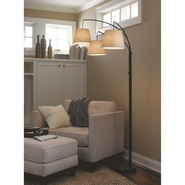 threshold 3 arm arc floor lamp maybe for the living room. Black Bedroom Furniture Sets. Home Design Ideas