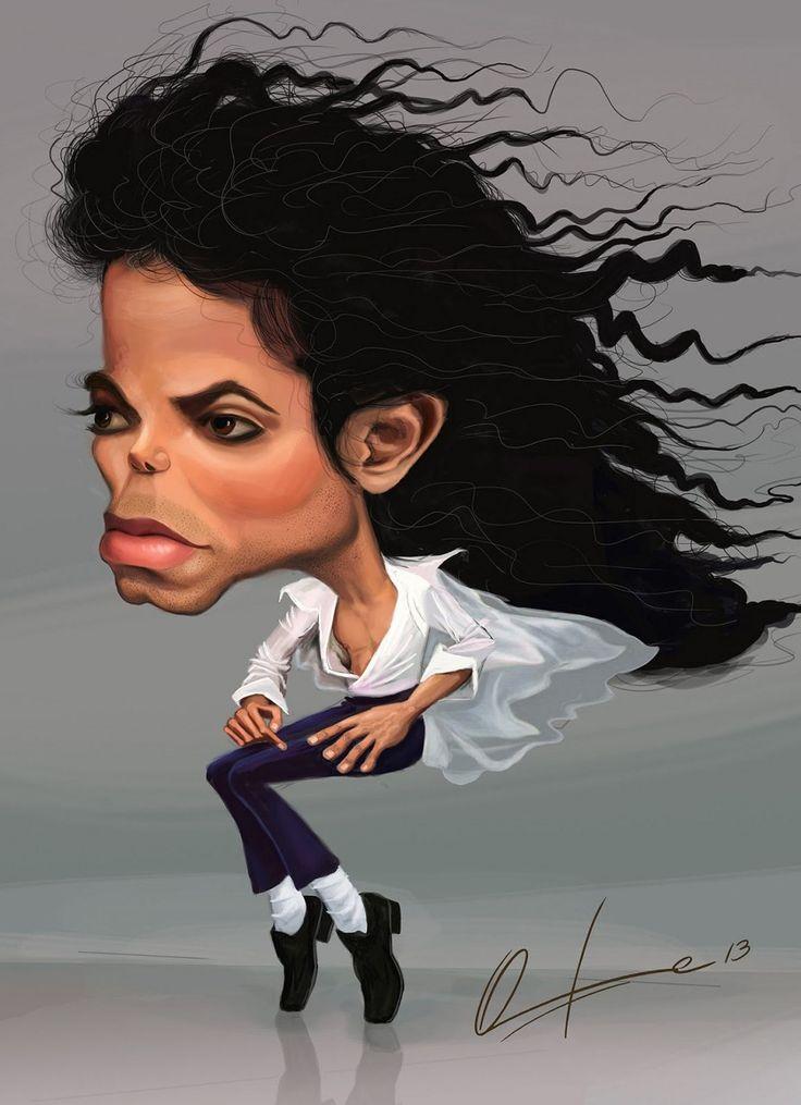 caricatura de michael jackson caricature illustration