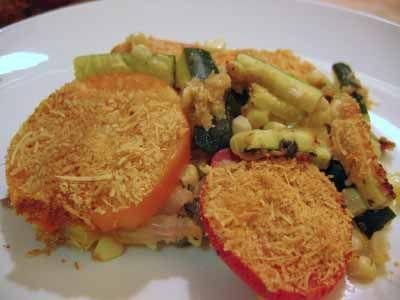 Corn, Zucchini, and Tomato Pie from Epicurious. I grate the zucchini ...
