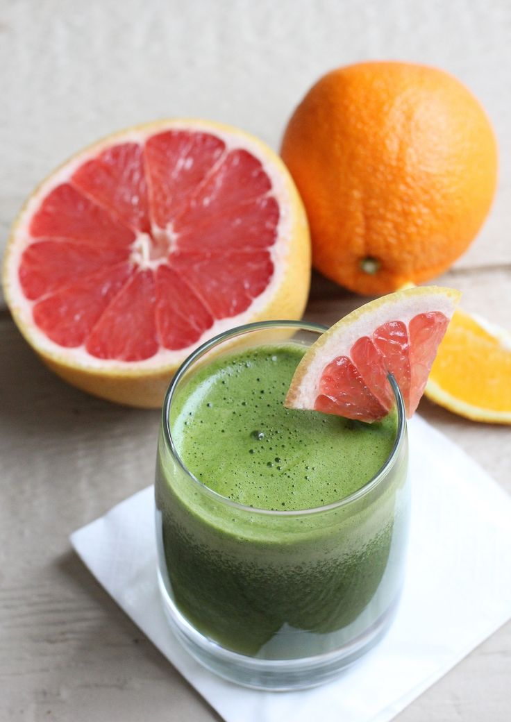 Red Grapefruit and Ginger Green Juice | Smoothies | Pinterest