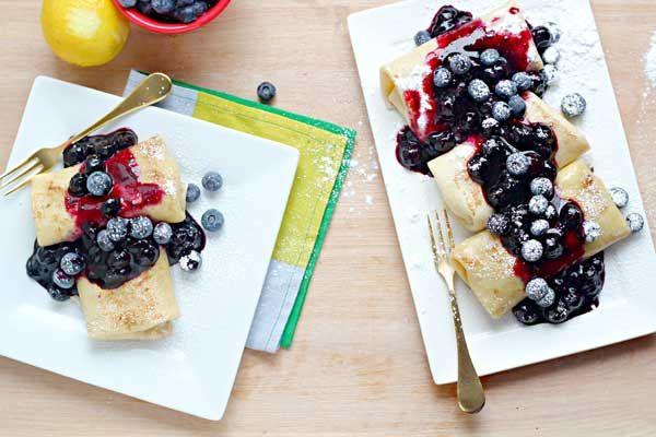 Blueberry Blintzes Recipe — Dishmaps