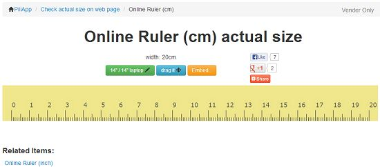 Online Rulers In Metric And Inches | Randoms | Pinterest