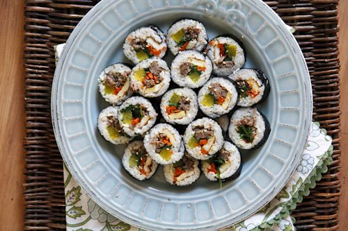 Beef Kimbap Recipe: Kimbap is the Korean version of the Japanese ...
