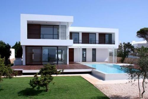 Flat Roof L Shaped House Design Pinterest
